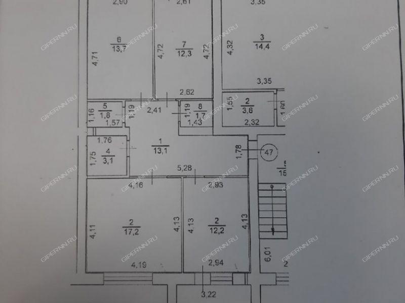 трёхкомнатная квартира на улице Мира дом 13А город Арзамас