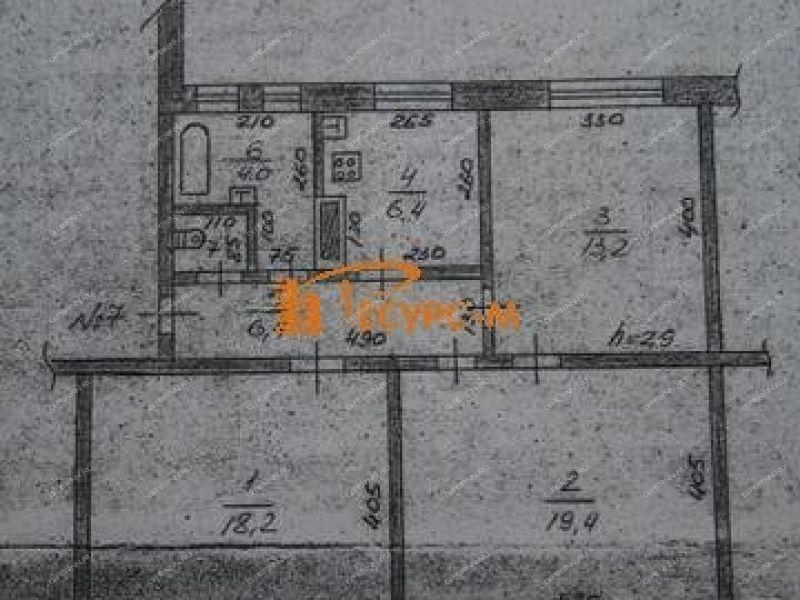 трёхкомнатная квартира на улице Красные Зори дом 34 город Выкса