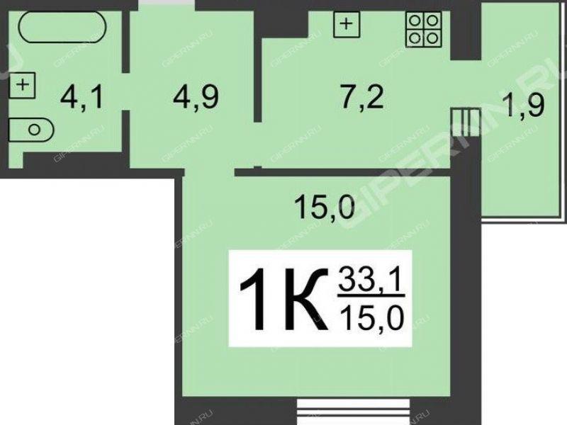 однокомнатная квартира на Южном бульваре дом 11