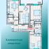 трёхкомнатная квартира в новостройке на ул. Александра Хохлова, Многоквартирный дом 1