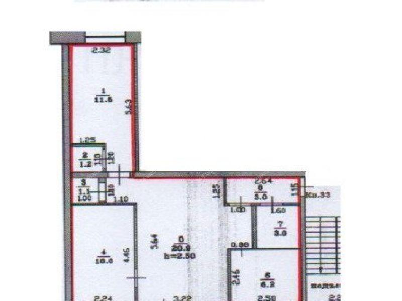 трёхкомнатная квартира на улице Чапаева дом 3 город Балахна